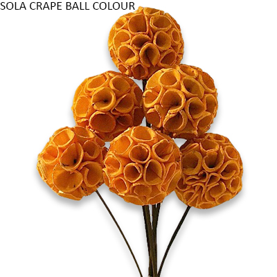 Sola Crape Balls Colour- Sola Ball Wholesale