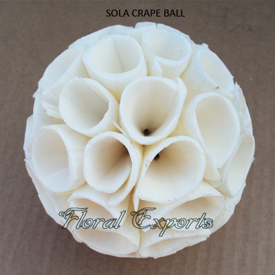 Shola Crape Ball Natural-Shola Balls Wholesale