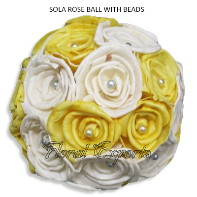 Sola Rose Ball with Stone-Sola Balls Suppliers