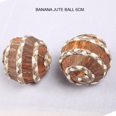 Banana Jute Ball 6cm - Bulk Balls Decorations