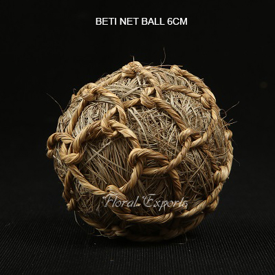 Beti Net Ball 8cm Natural - Wholesale Decorative Balls