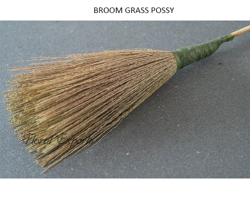 Broom Grass Possy on Stick