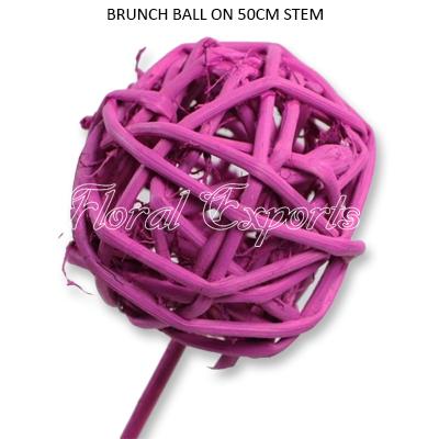 Brunch Ball Paint Colour on 50cm Stem - Bulk Twigs Balls Wholesale Supplies