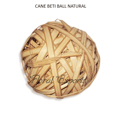 Cane Beti Ball 8cm Natural - Wholesale Decorative Balls