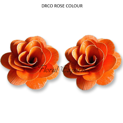 Wood Deco Rose 6cm Colours - Wholesale Wood Flowers Suppliers