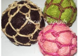 Fibre Dori Balls Colour - Handmade Decorative Balls Wholesale