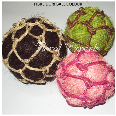 Fibre Dori Balls Colour - Handmade Decorative Balls Wholesale