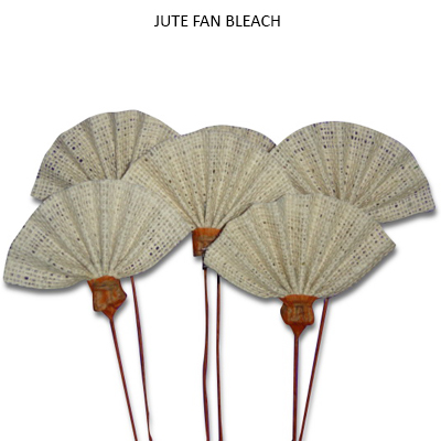 Jute Fan on Stem - Burlap Flowers Wholesale