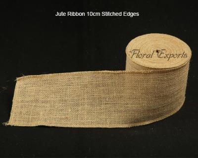 Jute Ribbon 10cm Stitched Edges wholesale supplies