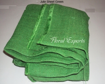 Jute Sheet Green - Colored Burlap Fabric Wholesale
