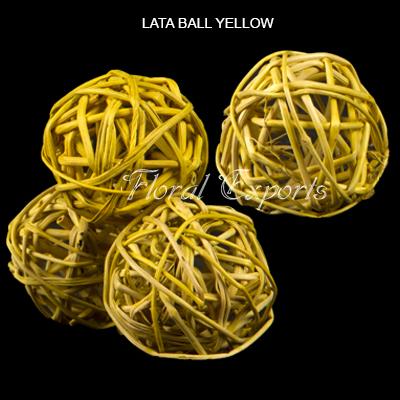 Lata Ball 6cm Yellow - Wholesale Decorative lata ball supplies