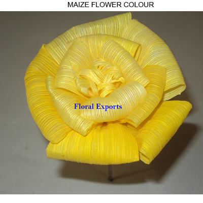 Maize Flowers 10cm on Stick Colour