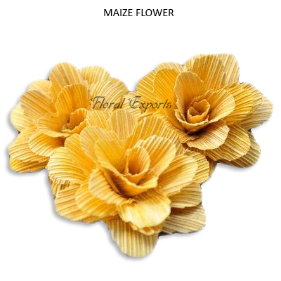 Maize Deco Rose 6cm Yellow