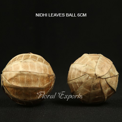 Nidhi Leaves Ball 6cm - Handmade Deco Balls Wholesale