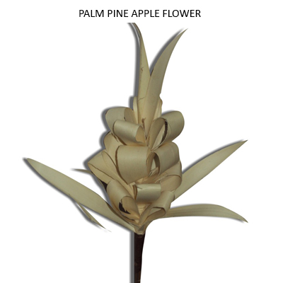 Palm Pine Apple Flower on Sticks