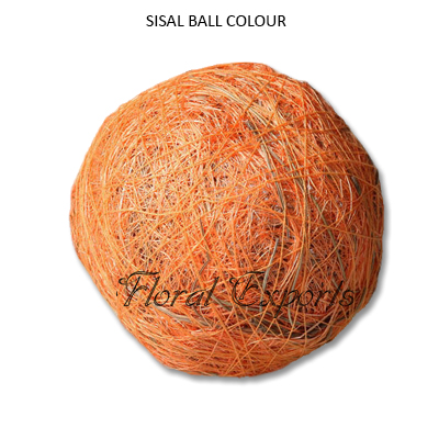 Sisal Fibre Ball Colour - Decorative Bowl Fillers Balls