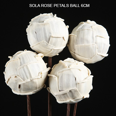 Sola Rose Petals Balls on Stem - Bulk Sola Balls Wholesale