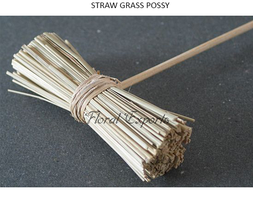 Staraw Grass Possy - Dried Deco Possy Wholesale