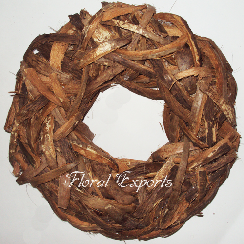 Coco top cut Wreath - Dried Flowers Wreath
