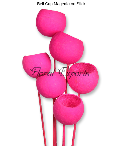 Bell Cup Magenta on Stick