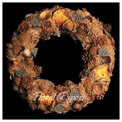 Mix Dried Flowers Wreath - Christmas Wreath Decorations