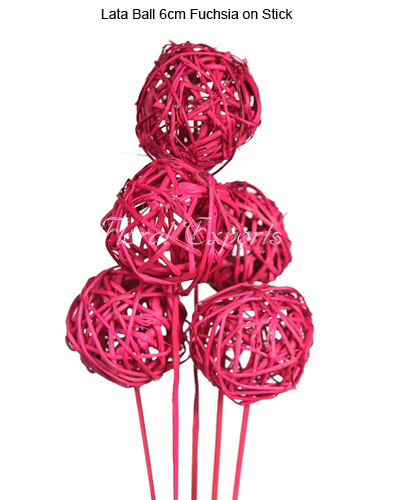 Lata Ball 6cm Fuchsia on Stick