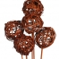 Lata Ball Brown 6cm on Stick 5pcs Bunch