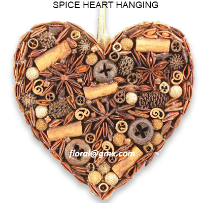 Spice Heart Hanging - Christmas Hanging Decorations