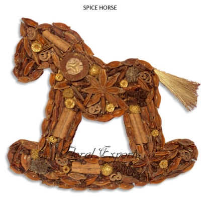 Spice Horse Hanging - Christmas Hanging Decorations