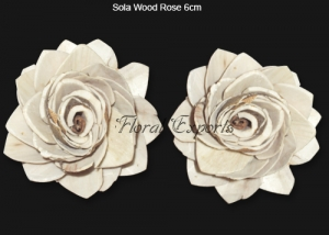 Sola Wood Rose 6cm Natural - Bulk Sola Wood Rose Wholesale Supplies