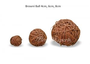 Browni Ball 4cm, 6cm, 8cm - Parrot Toys Wholesale