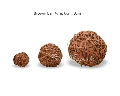 Browni Ball 4cm, 6cm, 8cm - Parrot Toys Wholesale