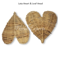 Lata Heart & Leaf Head - Parrot Bird Toy