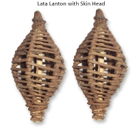Lata Lanton with Skin Head- Natural Bird Toys