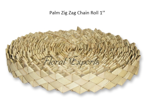 Palm Zig Zag Chain Roll 1'' – Bird Toy Bulk Manufacturer