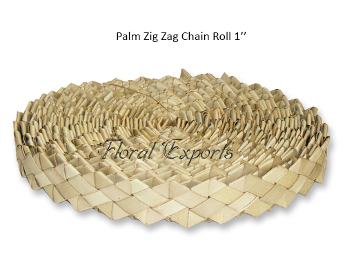 Palm Zig Zag Chain Roll 1'' - Bird Toy Bulk Manufacturer